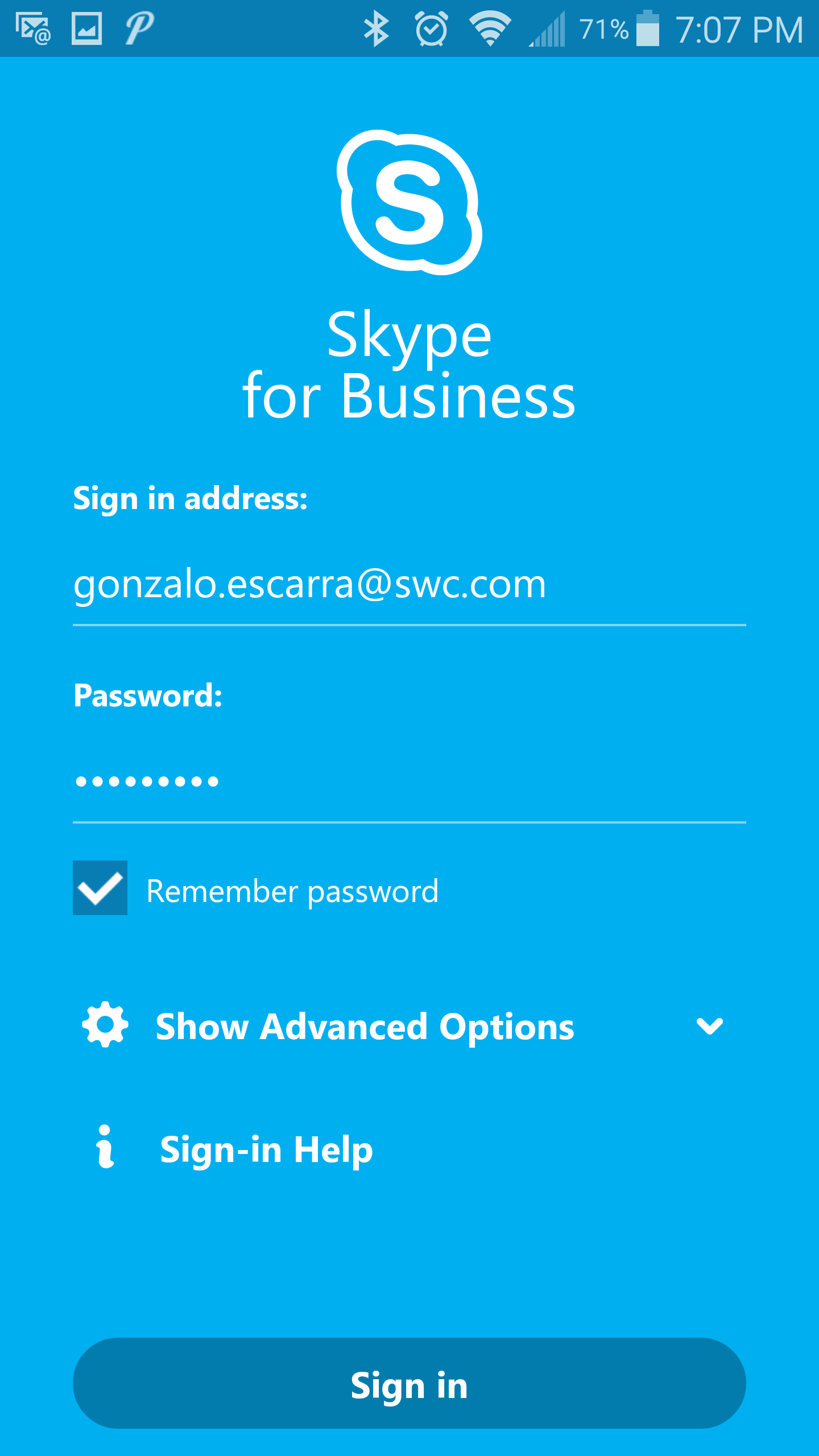 skype for business android app